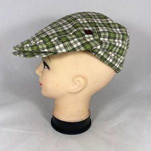Woolrich Driving cap Flat Hat cotton Plaid NWT